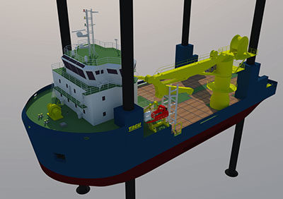 Design of Jack-up Ship