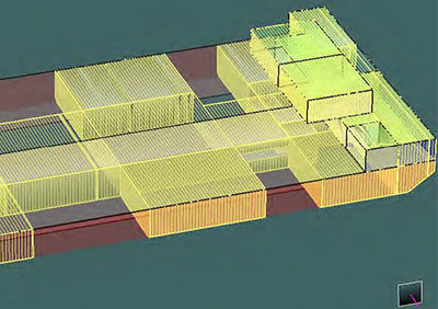 Stability Calculation for Cable Lay Barge, VETAG 8, in project-specific operations